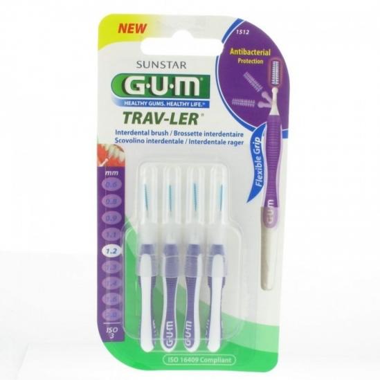 Gum brossettes proxabrush trav-ler 1,2 mm x 4