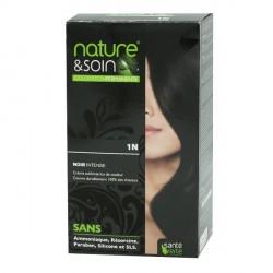 Santé Verte nature & soin coloration permanente noir intense 1N