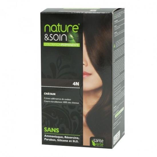 Santé Verte nature & soin coloration permanente châtain 4N