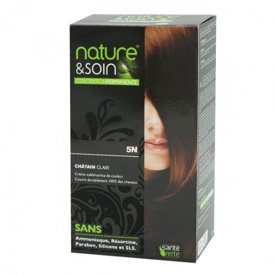 Santé Verte nature et soin coloration permanente châtain clair 5N 129ml