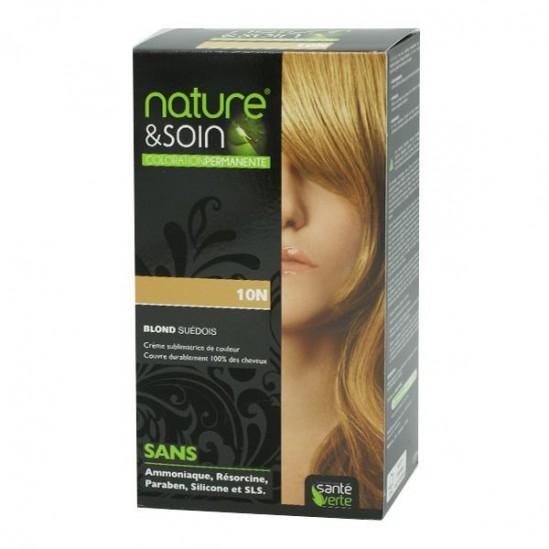 Santé Verte nature & soin coloration permanente blond suédois 10N 129ml