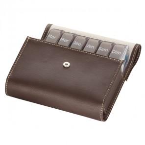 Cooper pilbox maxi pilulier semainier sacoche marron
