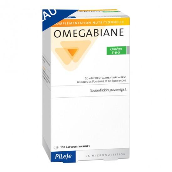 Pileje omegabiane oméga 3-6-9 100 capsules marines