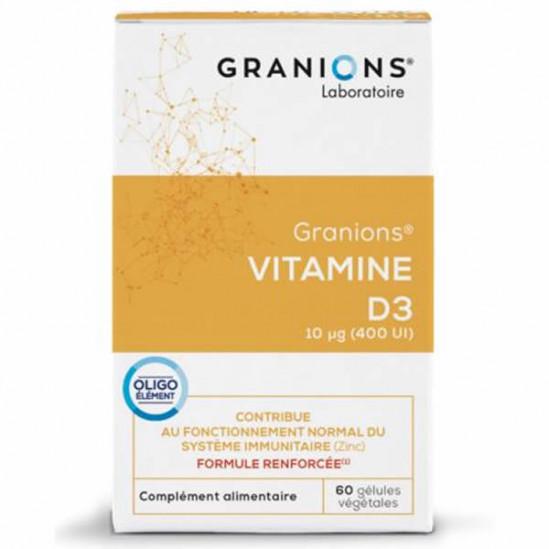 Granions vitamine D3 végétale 60 gélules 22g