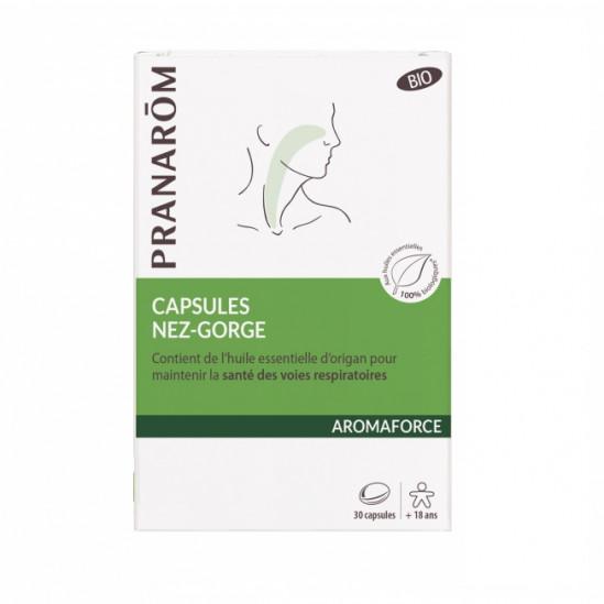 Pranarôm aromaforce nez-gorge 30 capsules